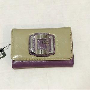 Guess Fresh SLG Purple Trifold Wallet NWT